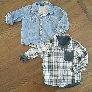 Set of button down 18-24 month Gap flannels